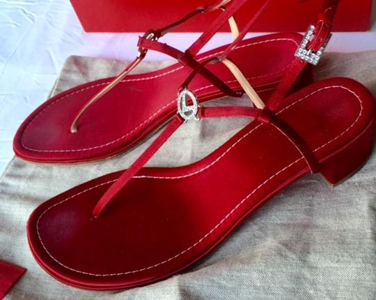 Valentino Monogram Red Sandals