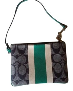 Coach Authentic Signature Stripe Coach wristlet