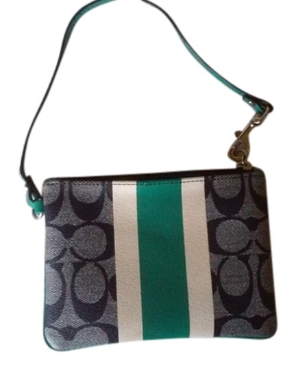 Preload https://item5.tradesy.com/images/coach-navy-blue-teal-and-white-signature-stripe-wristlet-wallet-6577729-0-1.jpg?width=440&height=440
