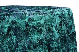 13 Teal/turquoise/peacock Rosette Tablecloths Wedding