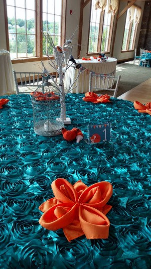 Teal/Turquoise/Peacock 13 // Rosette Tablecloth