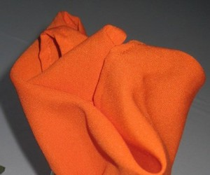 100 Tangerine Orange Wedding Napkins 20 X 20