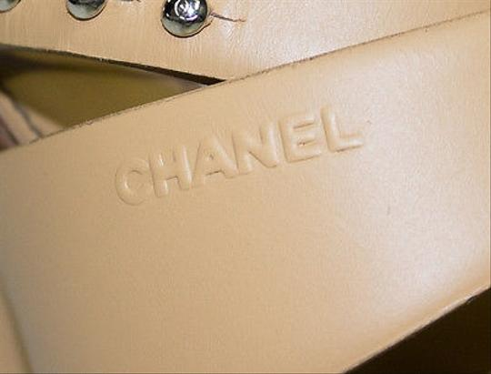 Chanel Strappy Brown Pumps
