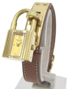 Hermès HERMES Vintage Courchevel Kelly Cadena Watch PM 1995