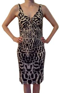 Diane von Furstenberg Dvf Jersey Fitted Print Dress