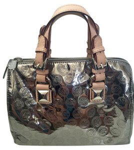 Michael Kors Satchel in Metallic Nickel