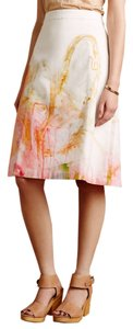Anthropologie New Nwt Anthro Anthro Painter Color Pink Yellow Green White New With Tags New York A-line Midi Skirt