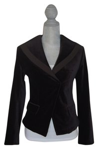 William Rast Tuxedo Style Holiday Jet Black Velvet Blazer