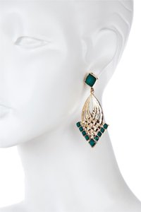 Danielle Stevens Danielle Stevens Gold & Emerald Resin Teardrop Earrings