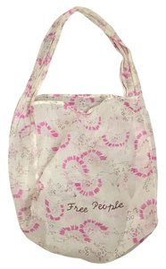 Free People Tote in Ivory/purple