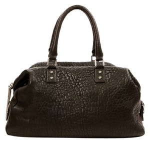 MONICA CHIANG Leather Satchel in BLACK