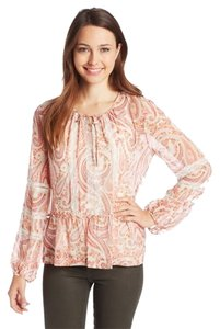 BCBGMAXAZRIA Top Pink Clay Combo