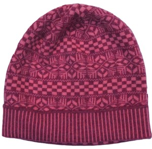 Versace Versace Pink Knitted Beanie Wool Hat