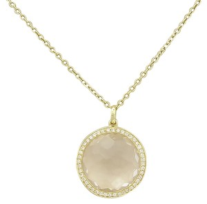 Ippolita (15106S) Ippolita Lollipop Clear Quartz & Diamond Necklace in 18k Yellow Gold