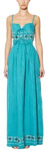 Teal Maxi Dress by Karen Zambos Maxi Embroidered Festival Boho Bohemian