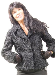 german furrier Swakira Persian.lamb Persian Lamb Fur Coat Fur Mink Coat Chanel Black Jacket