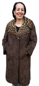 PERSIAN LAMB OCELOT COLLAR Fur Fur Coat