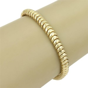 Henry Dunay Designs (15184M) Henry Dunay Hammered Facets Curve Link Bracelet in 18k Yellow Gold