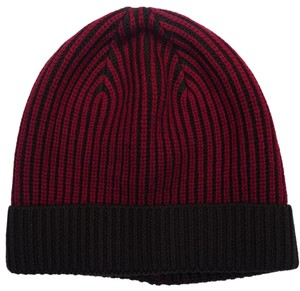 Versace Versace Red/Brown Knitted Beanie Wool Hat