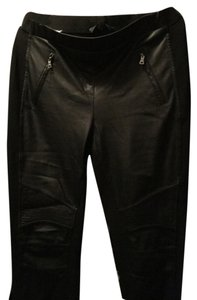 BCBGMAXAZRIA Faux Leather Black Leggings