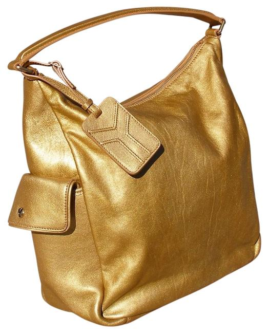 Item - Multy Gold Leather Hobo Bag