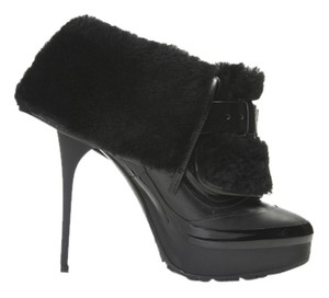 Burberry Leather Shearling Black Boots