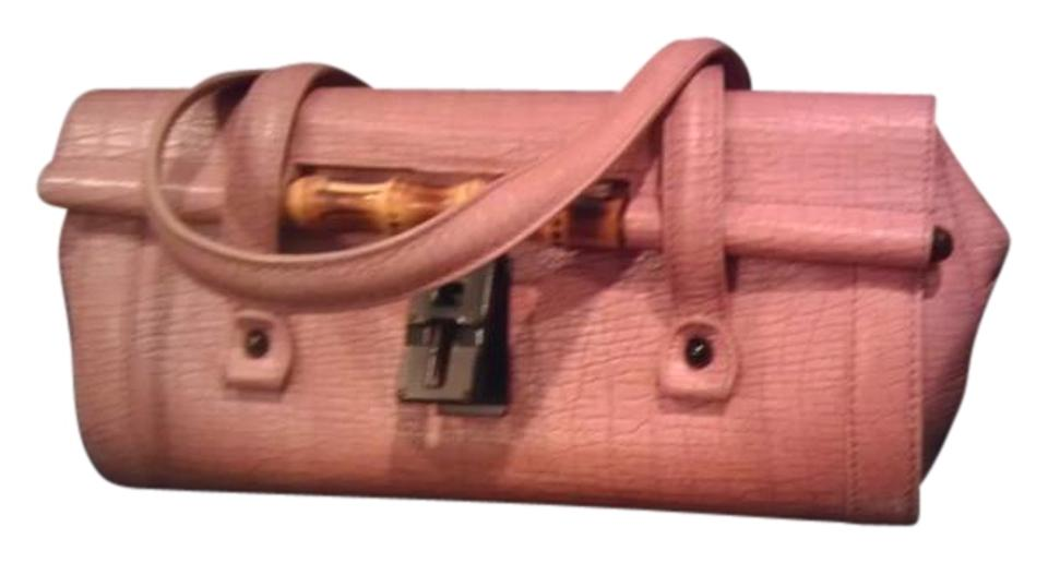 f9a48a56133 Gucci Sale Bamboo Bullet Light Pink Leather Shoulder Bag - Tradesy