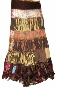 Cache Patchwor Patchwork Maxi Skirt multi color