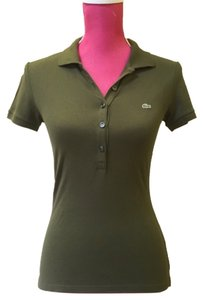 Lacoste Polo Polo Womens Button Down Shirt Olive