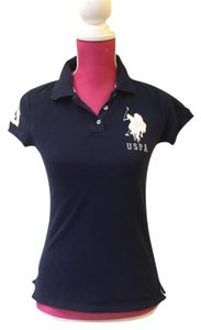 Polo Sport Womens Polo Button Down Shirt Navy