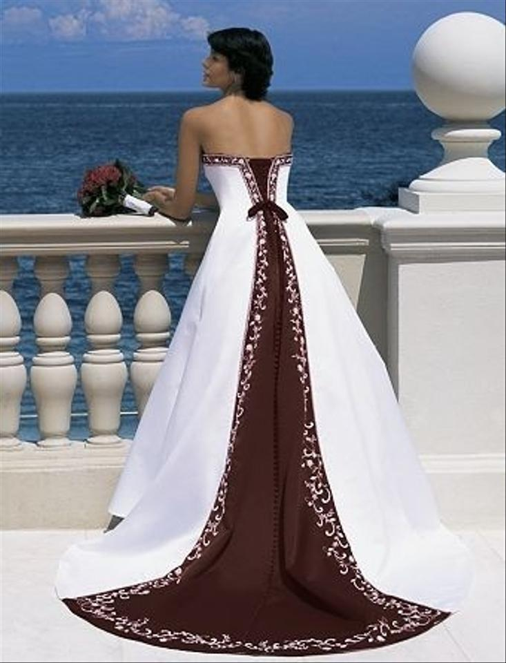 f3a224629d7 Alfred Angelo Ivory Satin Style 1516 18 Chocolate Ivory Wedding Dress Size  Other Image 0 ...