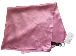 Coach Coach Square Scarf in Pink 100% Silk with logo in Rhinestones - BRAND NEW