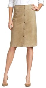 Talbots Suede Pencil Suede Skirt Tan