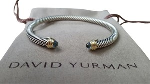 David Yurman Cable Classics Bracelet With Blue Topaz And 18 K Gold