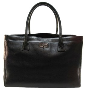 Chanel Cerf Executive Cerf Tote in Black