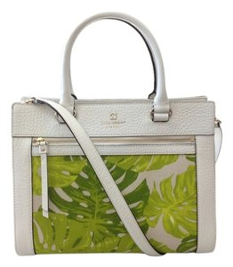 Kate Spade Satchel in White/Green