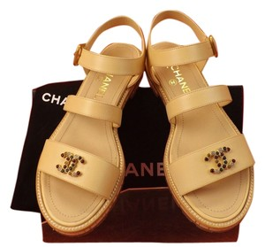 Chanel Light Beige/Tan Sandals