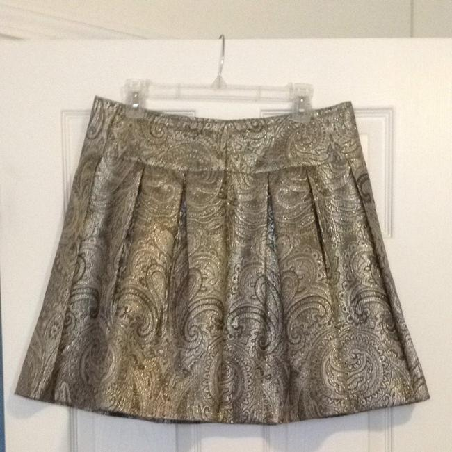 Tapemeasure Mini Skirt gold