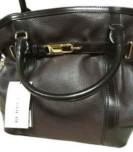 Burberry Leather Monogram Lining Shoulder Bag