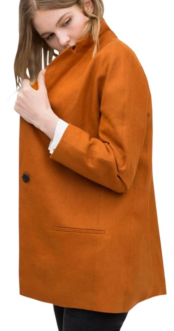 Preload https://item1.tradesy.com/images/zara-orange-burnt-casual-new-without-tag-pea-coat-size-8-m-6610855-0-4.jpg?width=400&height=650