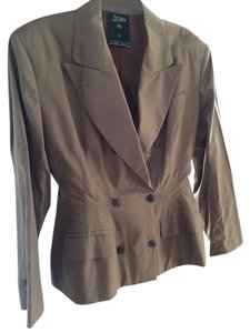 Jean-Paul Gaultier Structured Tailored Cut Made In Italy Light Weight Wool Runway Glamour Cocoa Brown Jacket