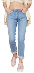 Nasty Gal Boyfriend Cut Jeans-Medium Wash