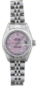Rolex Rolex Lady Datejust Stainless Steel Pink Mother of Pearl Diamond Watch