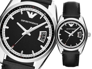 Emporio Armani Emporio Armani Classy Watch vintage Leather strap Stainless Steel wristwatch