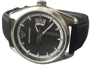 Emporio Armani Emporio Armani Watch vintage Leather strap Stainless Steel wristwatch