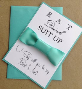 Turquoise Will You Be My Groomsman Card
