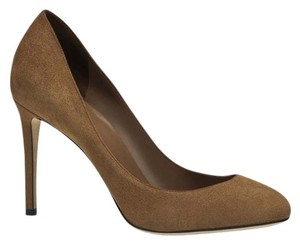 Gucci Women's Interlocking Gg Logo 338776 Italy Brown Pumps