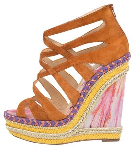 Christian Louboutin Suede Multi Wedges