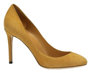 Gucci Classic Suede Leather Heels Nectarine Pumps