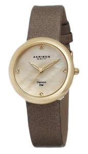 Akribos XXIV Taupe and Gold Watch